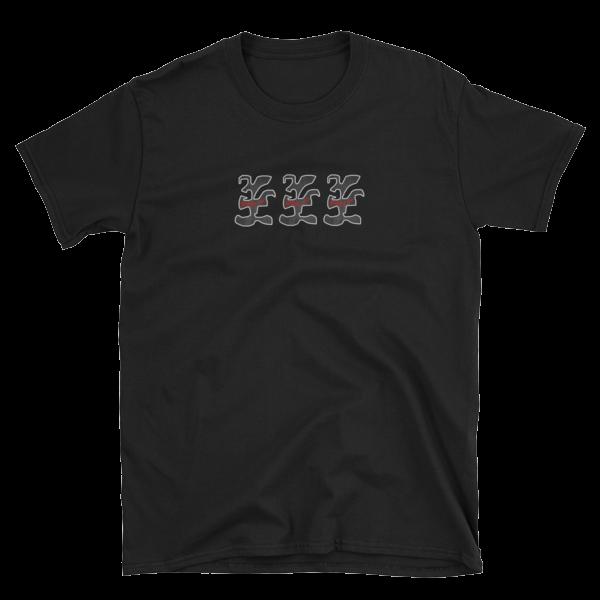 Lotta Sauce - On Shirt - Red X 3 logos